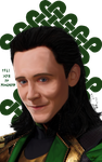 Loki Digital Portrait by Erkillers