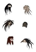 Harpy Head Conceptual Designs by Jakegothicsnake