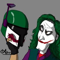 Joker meets Fett by darthsomeone