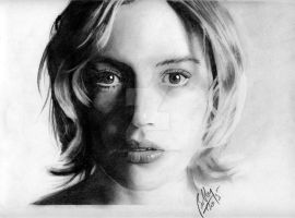 Kate Winslet pencil portrait by Bobby-Sandhu