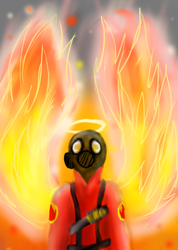 There is only one way a pyro will go... by akumie132435