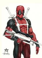 Deadpool Sketch by b-Worx