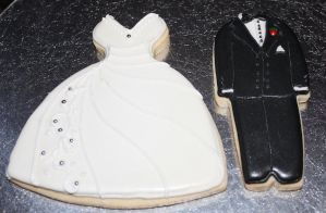 Bride and Groom Sugar Cookies by picworth1000wrds