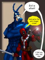 The Tick and Deadpool by tmntfan05