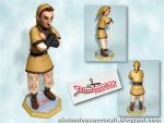 Skyward Sword: Pipit Papercraft by squeezycheesecake