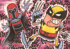 MGB: Magneto vs. Wolverine by thecheckeredman