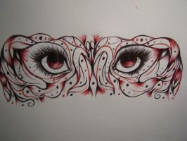 Eye Abstract Red by kawaii-punkart