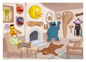 Sesame Street trophy room by Sheharzad-Arshad