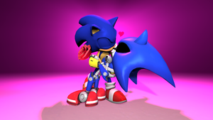 Sonic x Metal Sonic by TheRiverKruse