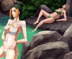 Oasis Rest Stop: Pakura and Maki (close up) by JuPMod