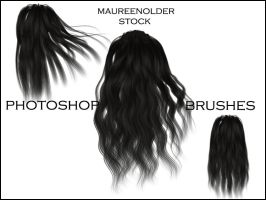 STOCK PHOTOSHOP BRUSHES hair 3 by MaureenOlder
