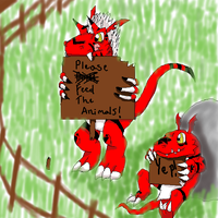 Growlmon and Guilmon by The-Last-DragonWolf