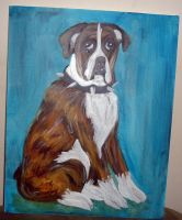 Dog Painting 070611 by raccoon-eyes