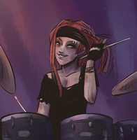 Drumming by erstwhile-sho
