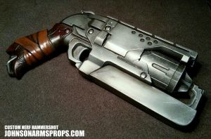 Custom Nerf Hammershot in Steel by JohnsonArms
