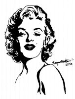 Marilyn Monroe by BrandyBee