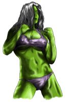 She-Hulk Colour Balance by NaughtyWookie