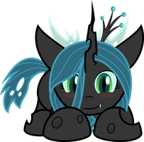 Filly Queen Chrysalis - Type B (Clean Character) by BlackWater627