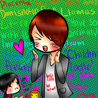 Danisnotonfire and (tiny) AmazingPhil by bunnybacon