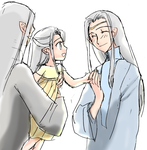Little Nimloth and Young Celeborn by h-muroto