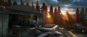 Hangar Small by ellorygm