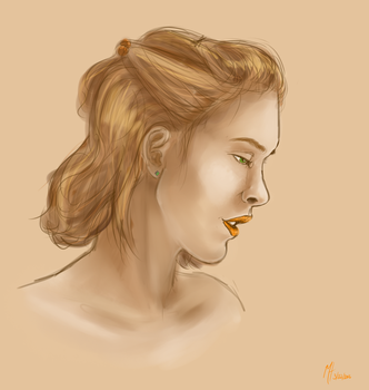 Tangerine and Tan by differentoctober