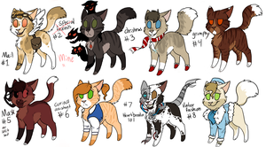 Cheap adoptables CLOSED by Please-be-careful