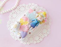Adventure Time Fionna Cake Deco Case by ThePocketKawaii