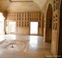 Interior Agra Fort India by babsartcreations