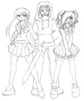 Gweild College - Vicky, Shyg and Alice by kamon-san