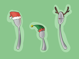 Christmas Utensils by sp00ntane0us