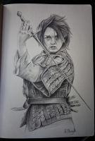 Game of Thrones character sketch  book- Arya Stark by RavenMorgoth