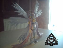 Digimon Angewomon Papercraft Complete Right Side by HellswordPapercraft