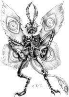 Oct 8: Mothman by emeraldfury
