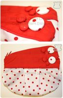 Red Dot Clutch by moofestgirl