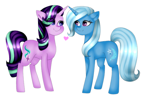 Starlight And Trixie by TheCreativeRey