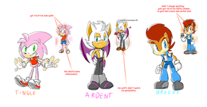 Some Genderbend Redesigns by thegreatrouge