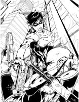 NightwingvsDeathstroke by TravisMercer1017
