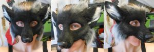 Silver Fox LARP mask by Magpieb0nes