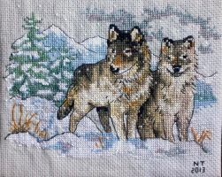 Dimensions Cross Stitch Kit: Wolves by youlovegnats