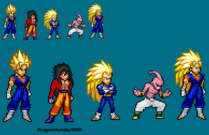 Vegito New Stance and other by MeowFlapBoy