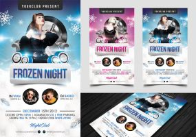 Frozen Night Flyer Template by angkalimabelas