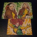 Sketchcards Rogue and Phoenix by hamdiggy
