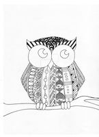 Zentangle Owl by Persephone30