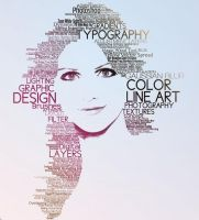 Typographic Portrait by jleeman
