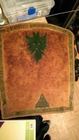 Progress: Leather Green Man Celtic Arrow Quiver by TydyeKytes
