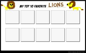 Top 10 Favorite Lions by SithVampireMaster27