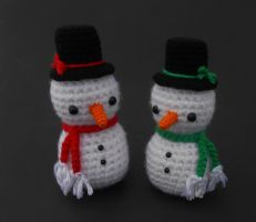 Snowmen for Brittany by Pickleweasel360