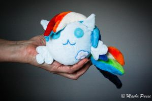 Rainbow Dash - My Little PonyBall Plush by Masha05