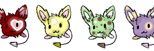 Puffgles Pointables (2/4 Left) by PikPik-Adoption